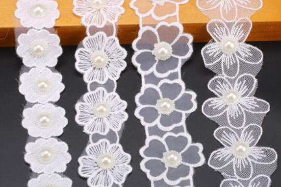 Net yarn lace embroidery accessories laser cutting