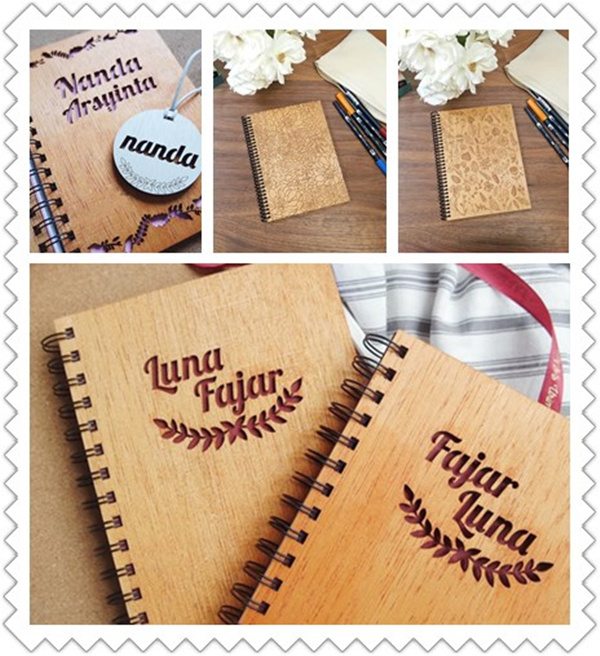 laser engraving notebook
