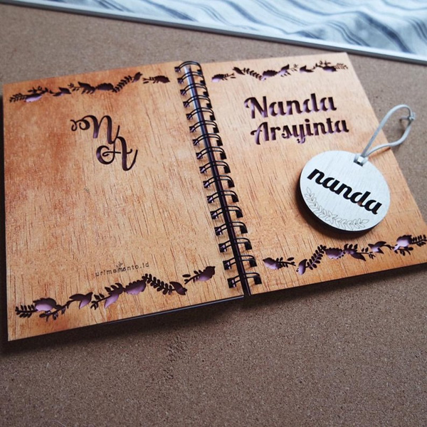 notebook laser engraving samlpe