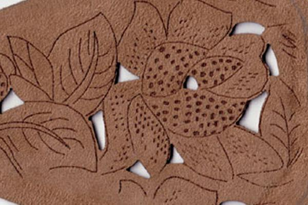 Leather fabrics laser cutting